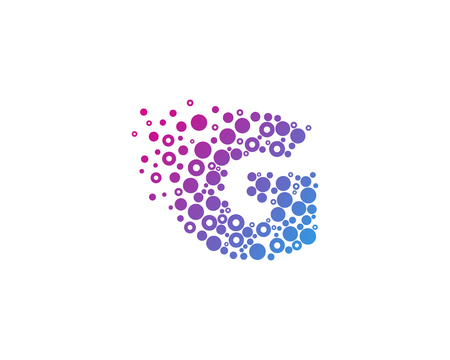 Particle Letter G Icon Logo Design Element
