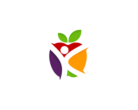 Fruit Icon design for healthy life or fitness Logo Design Element