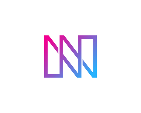 N の文字アイコン ロゴのデザイン要素