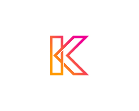 Letter K Icon Logo Design Element 일러스트