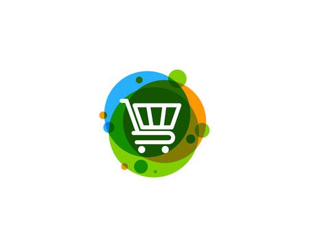 쇼핑 아이콘 로고 디자인 요소 일러스트