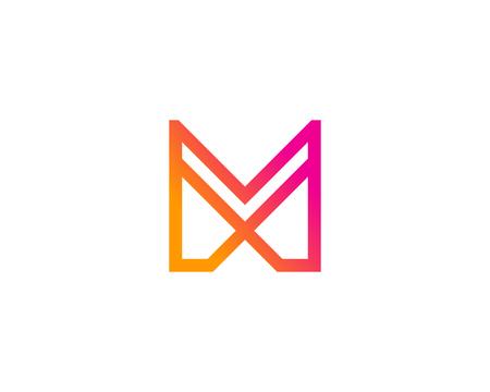 Letter M Icon Logo Design Element