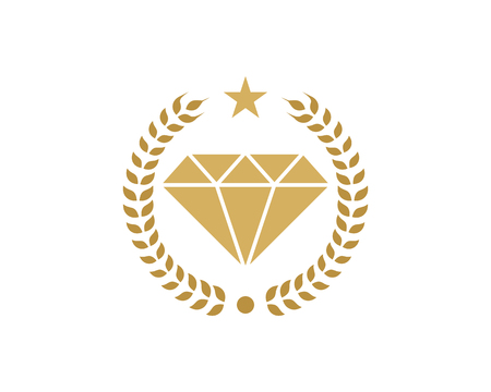 Diamond Icon Logo Design Element Stock Illustratie
