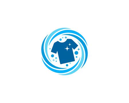 Wäscherei-Ikonen-Logo-Design-Element