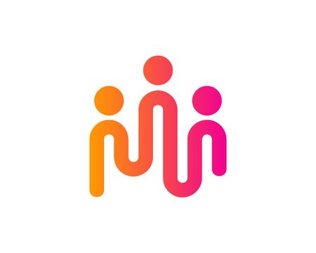People Icon Logo Design Element
