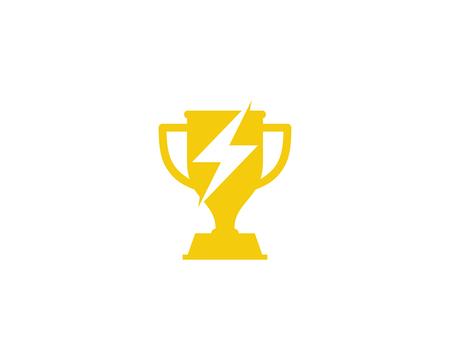 Trofeo Icono Elemento de diseño del logotipo Foto de archivo - 80806331