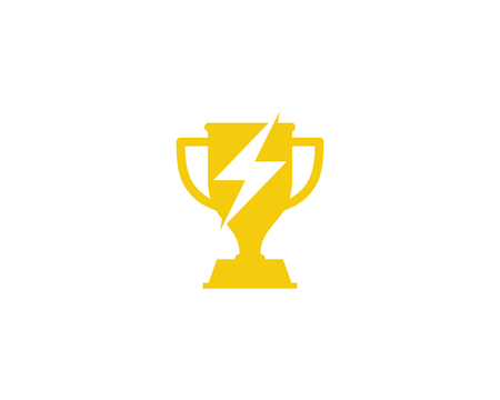 Trophäen-Symbol Logo Design Element Standard-Bild - 80806331
