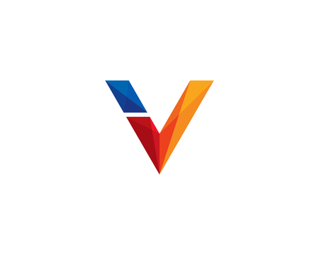 Letter V Icon Logo Design Element