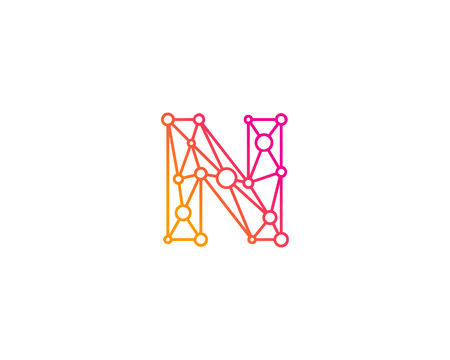 Letter N Icon Logo Design Element