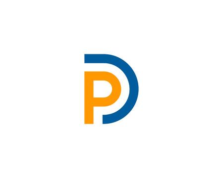 Buchstabe P Symbol Logo Design Element