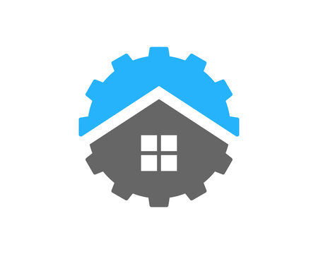 Real Estate Icon Logo Design Element