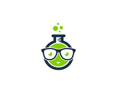 科学ラボ アイコン ロゴのデザイン要素  イラスト・ベクター素材