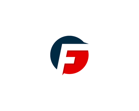 Letter F Icon Logo Design Element Illustration