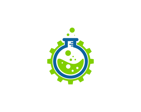 Science Lab Icon Logo Design Element  イラスト・ベクター素材