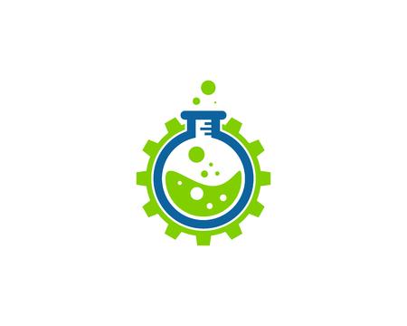 Science Lab Icon Logo Design Element Vectores