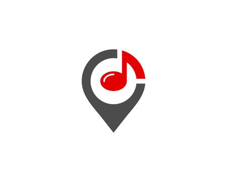 Music Icon Logo Design Element Ilustração