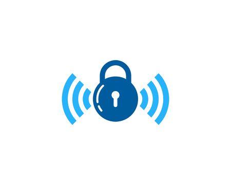 Security Pad Lock Icon  Design Element