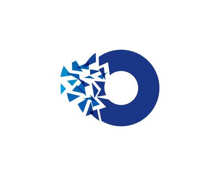 문자 O 아이콘 로고 디자인 요소