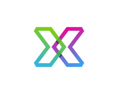 Elemento di progettazione di logo di lettera X Archivio Fotografico - 80693389