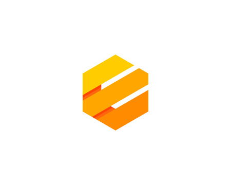 Letter E Icon Design Element