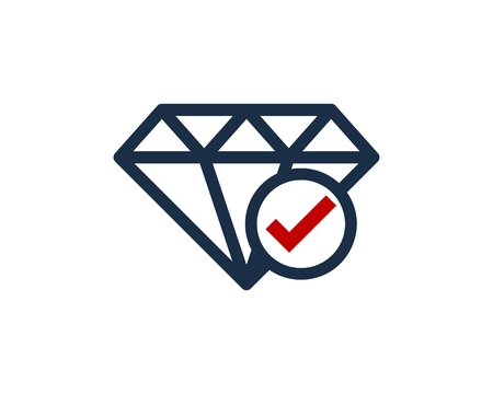 Diamond Icon Logo Design Element Stock fotó - 80612361