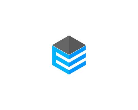 Letter E Icon Logo Design Element