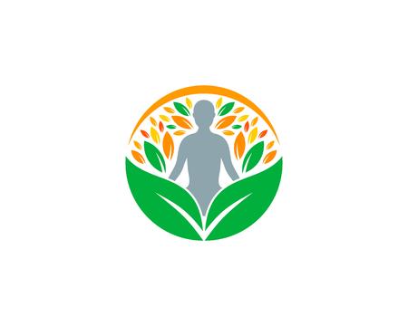 ウェルネス アイコン ロゴのデザイン要素