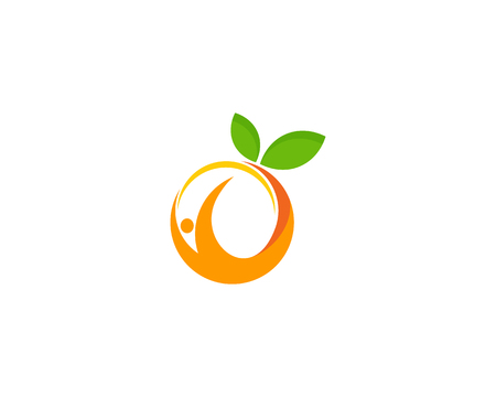 Fruit Icon Logo Design Element Stock Illustratie