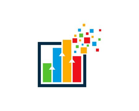 Graph Icon Logo Design Element Vettoriali