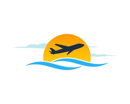 Travel Icon Logo Design Element