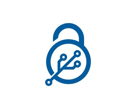 lockout: Pad Lock Icon Design Element