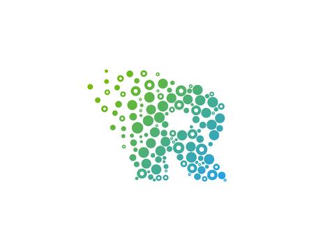 Lettre de la lettre r icône élément de conception de logo Banque d'images - 80819711