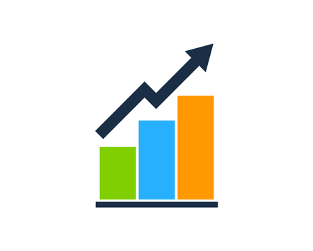 Stock Market Business Icon Logo Design Element Ilustração