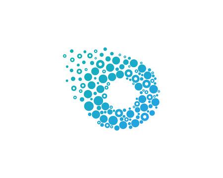 Particle Letter O Icon Logo Design Element