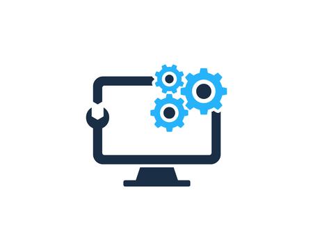Reparatie Computer pictogram Logo ontwerpelement