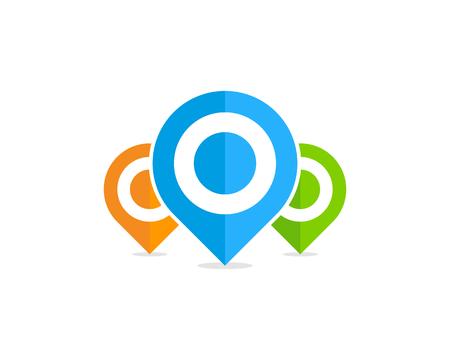 Pin Point Icon Logo Design Element