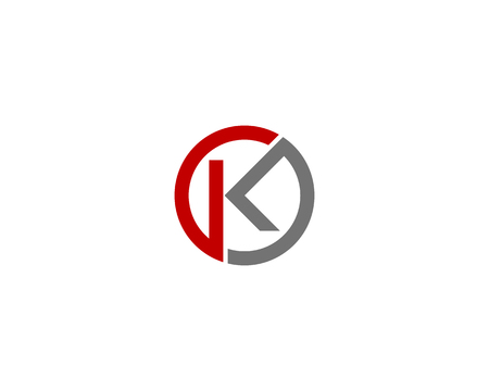Letter K pictogram Logo ontwerpelement Stock Illustratie