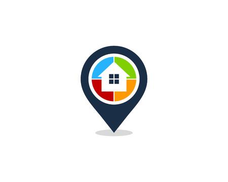 집 홈 아이콘 로고 디자인 요소 스톡 콘텐츠 - 80611425
