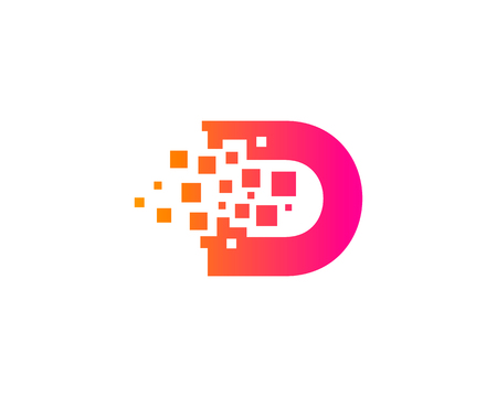 Letter D Icon Design Element