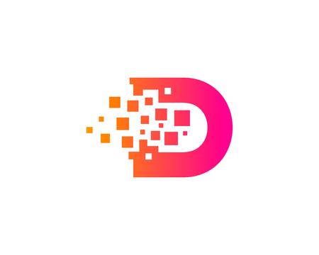 Letter D Icon Design Element Stock fotó - 80612117