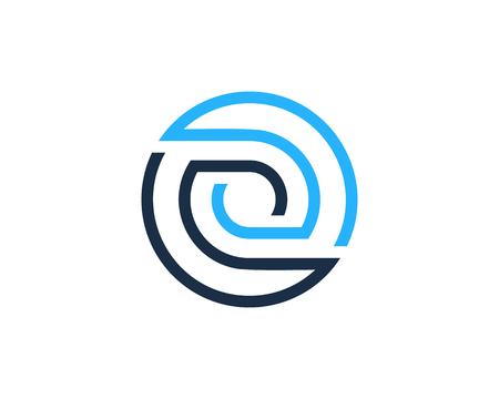 Letter O Circle Line Icon Logo Design Element Ilustração