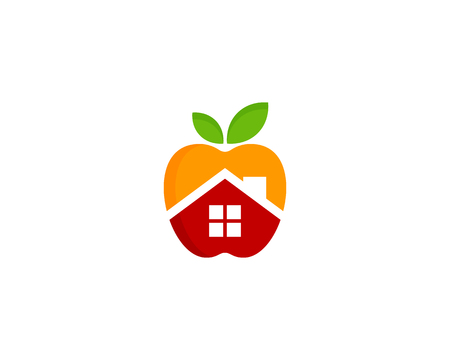 Fruit with house design. Icon Logo Design Element