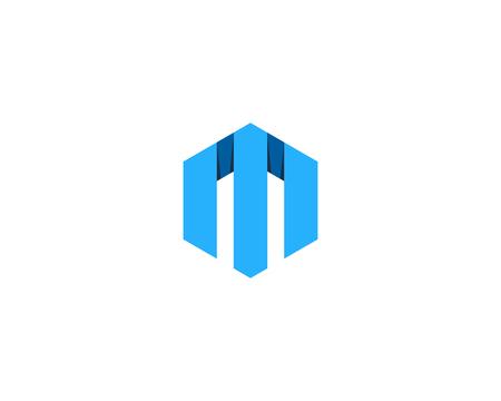 文字 M アイコン ロゴのデザイン要素