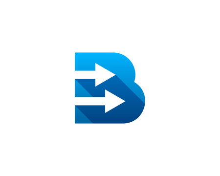 Letter B Icon Logo Design Element