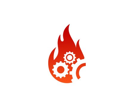 Fire Flame Icon Logo Design Element Çizim