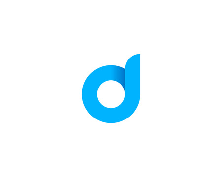 Letter D Icon Logo Design Element