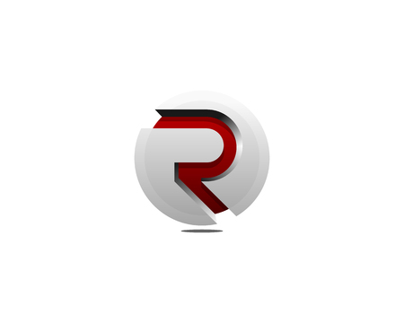 Letter R Icon Logo Design Element Illustration