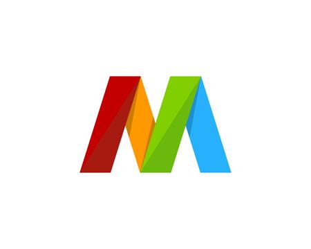문자 M 아이콘 로고 디자인 요소