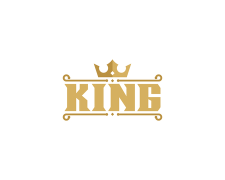 King Icon Logo Design Element Çizim
