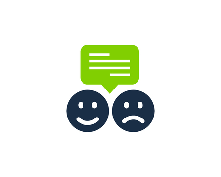 Testimonial Icon Logo Design Element Иллюстрация